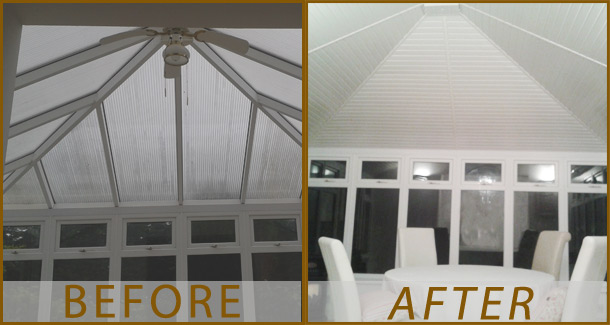 Before And After Insulated Conservatory Roof